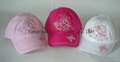 Butterfly Embroidery Cotton Kid Baseball Cap