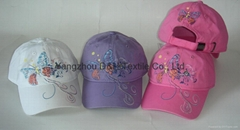 Multicolor Butterfly Printing Child baseball Caps