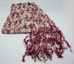 Fashional Lady Cotton Knitted Scarf/Warm Scarf/Floral Scarf