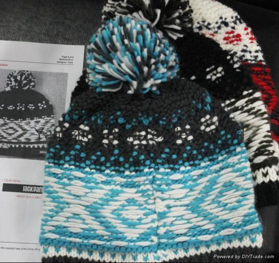 Popular Handwork Hook Flower Knitted Hat /Cotton Hat/Warm Hat  1
