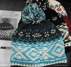 Popular Handwork Hook Flower Knitted Hat /Cotton Hat/Warm Hat