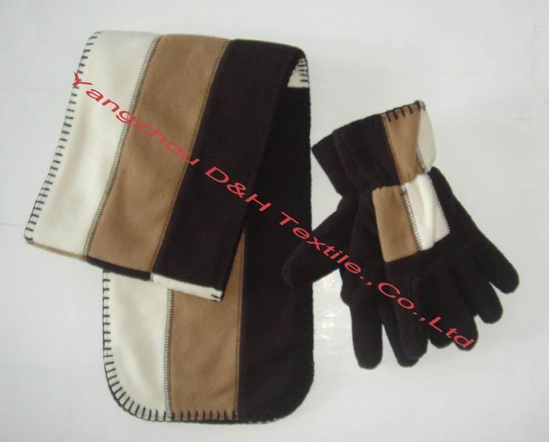 Polar Fleece Cap/Anti-Pilling Polar Fleece Set/Warm Set   1