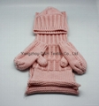 Child Knitted Set/Pink Knitted Hat/ Knitted Gloves/Knitted Scarf
