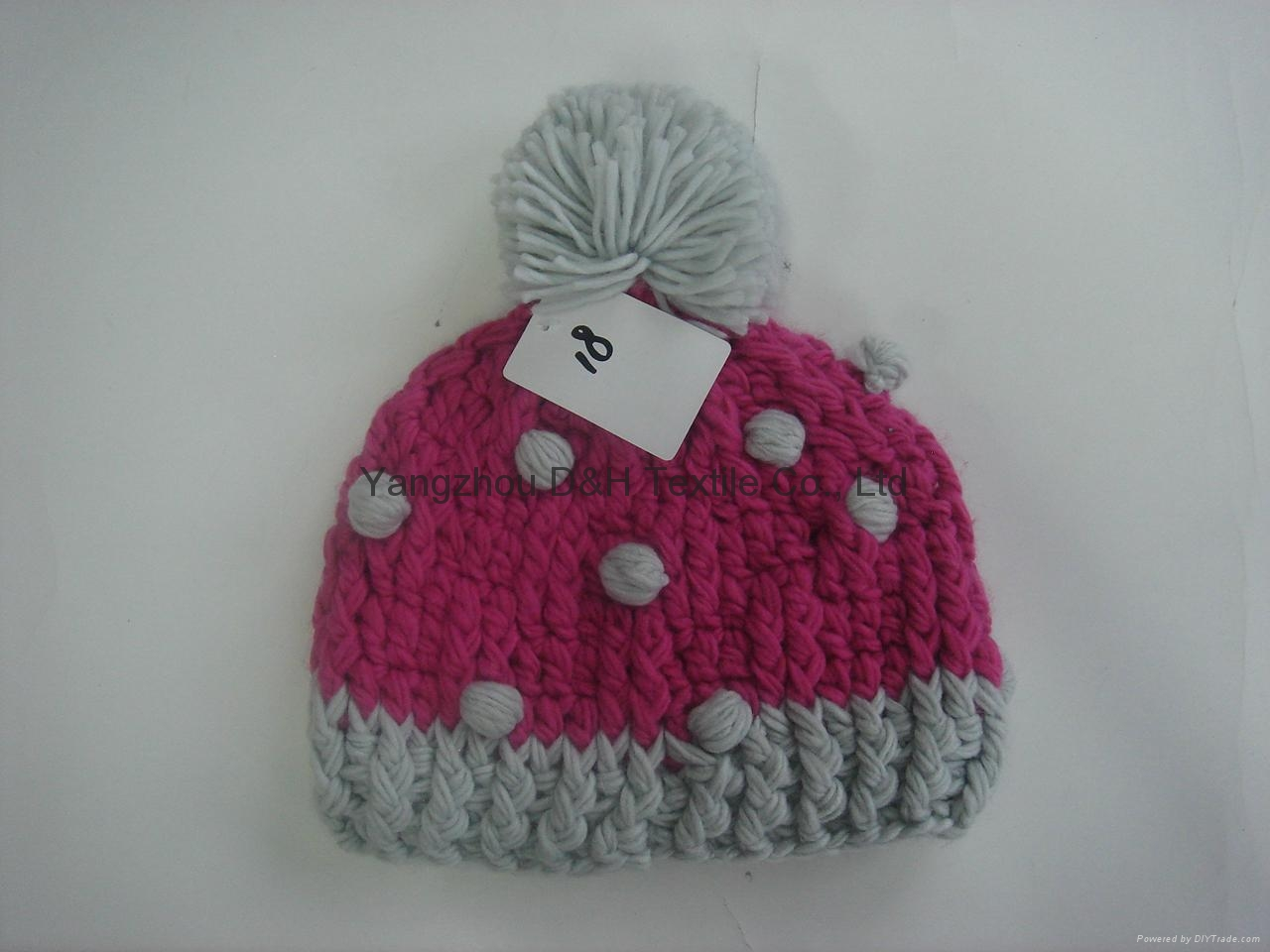 Fashion Ladies' Knitted Hat with Pompom/Crochet Hats  2