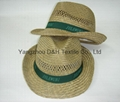 Wide brimmed Straw Hat  With Printing