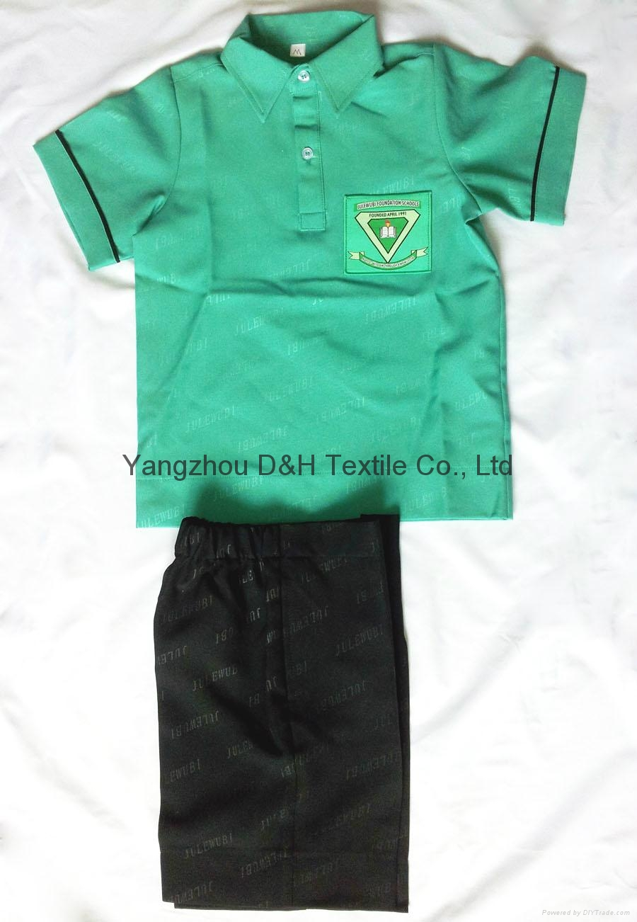 Polyester School student uniform work wear Cloth 4