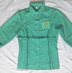 2017 Polyester Hot Fashional School uniform work wear Cloth