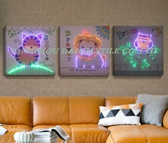 HOT LED luminous painting, flash decoration painting, dynamic frameless  murals