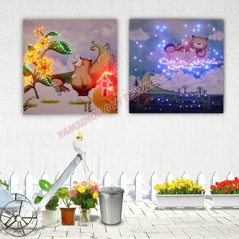 2016 HOT Optical Fiber painting decoration painting dynamic frameless painting 8