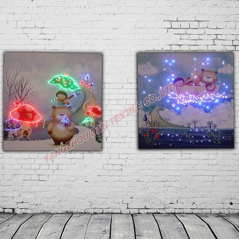 2016 HOT Optical Fiber painting decoration painting dynamic frameless painting 5