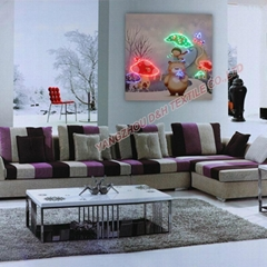 HOT Optical Fiber painting decoration painting dynamic frameless painting