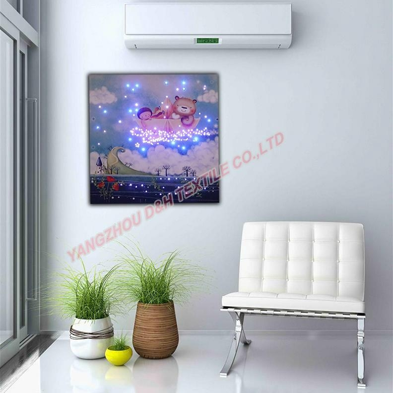 2016 HOT Optical Fiber painting decoration painting dynamic frameless painting 7