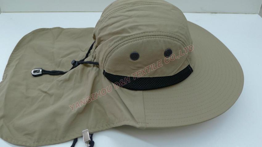 White Cotton Earflap Cloak cap with clip 1