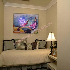 Optical Fiber painting home decoration painting dynamic frameless painting