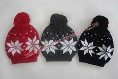 2016 hot professional Knitted crochet hat warm glove scarf beanie
