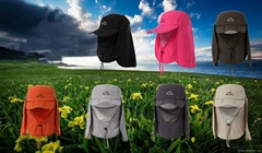Outdoor foldable jungle quick drying cloak fashion hat