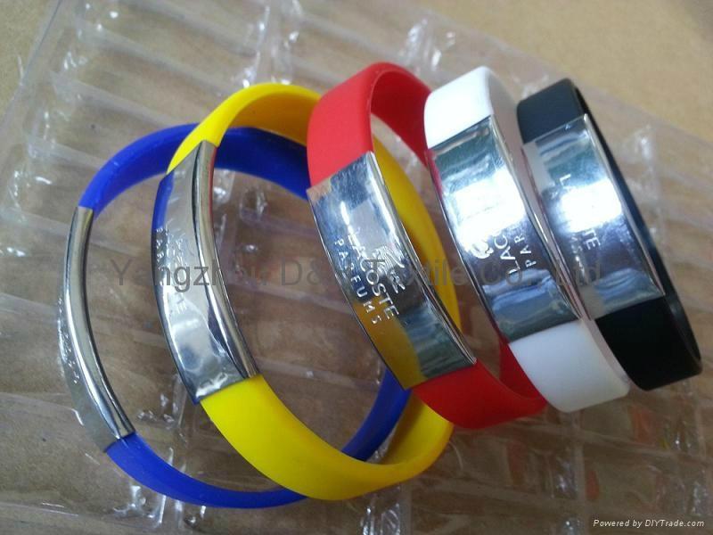 Aluminlum Silicone Banding Customized Silicone Bracelet Wristbands 1