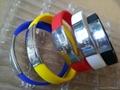 Aluminlum Silicone Banding Customized Silicone Bracelet Wristbands