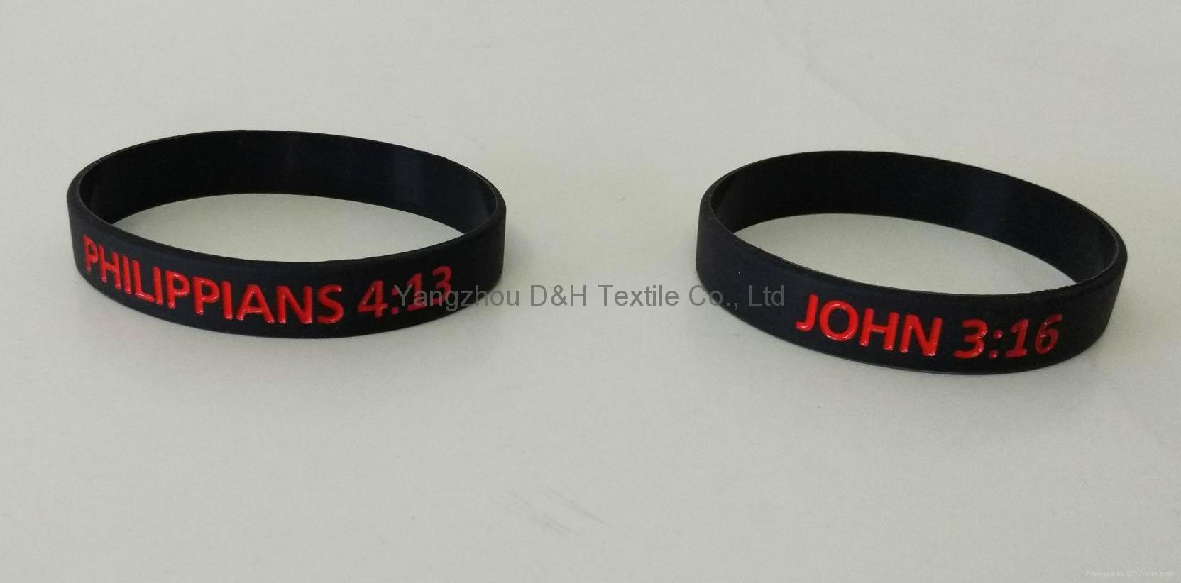 Aluminlum Silicone Banding Customized Silicone Bracelet Wristbands 2