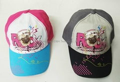 2017 Fashion Hot  Child Baseball Cap with Embroidery and Printing Logo
