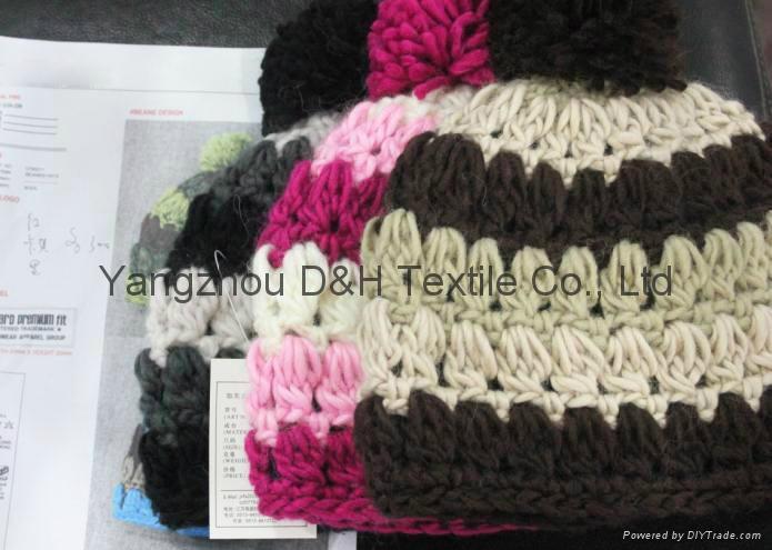 Fashion Hook Flower Knitted Hat /Cotton Hat/Warm Hat  2