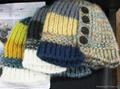 Fashion Hook Flower Knitted Hat /Cotton Hat/Warm Hat  3