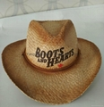 Raffia Straw Surf Hat Candana  Cowboy Straw hat
