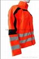 Basic Nylon Orange Jacket Work Cloth Workwear Apparel Short Coverall