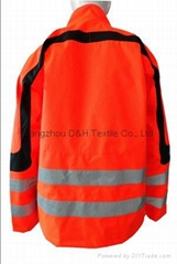 Basic Nylon Orange Jacket Work Cloth Workwear Apparel Short Coverall