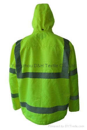 High Quality Green Nylon Jacket Work Cloth Workwear Apparel Coverall 3