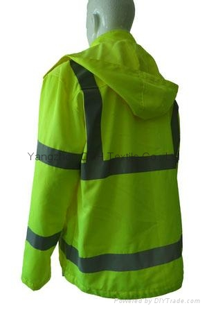 High Quality Green Nylon Jacket Work Cloth Workwear Apparel Coverall 5