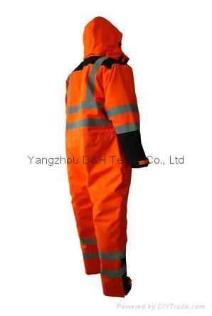 Nylon Orange Winter Coverall Work dress Cloth Overall Apparel  4