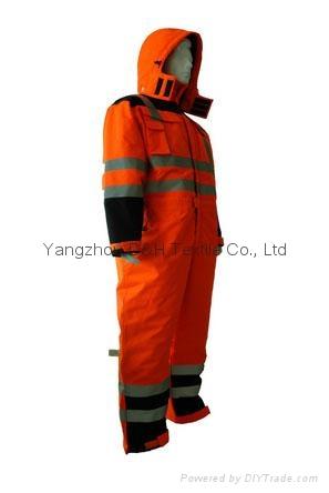 Nylon Orange Winter Coverall Work dress Cloth Overall Apparel  3