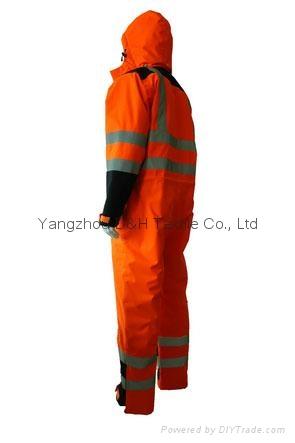 Nylon Orange Winter Coverall Work dress Cloth Overall Apparel  5