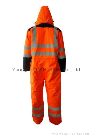 Nylon Orange Winter Coverall Work dress Cloth Overall Apparel  2