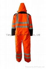 Nylon Orange Winter Coverall Work dress Cloth Overall Apparel