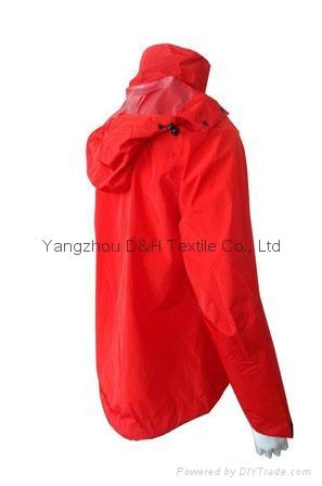 Fine Nylon Red Rain Coat Jacket Work Cloth labour suit Apparel  3
