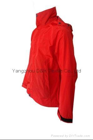 Fine Nylon Red Rain Coat Jacket Work Cloth labour suit Apparel  4