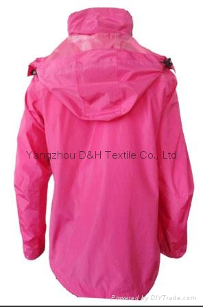 Fine Nylon Red Rain Coat Jacket Work Cloth labour suit Apparel  5