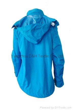 Fine Nylon Red Rain Coat Jacket Work Cloth labour suit Apparel  6