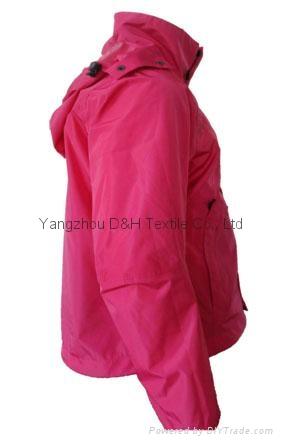 Fine Nylon Red Rain Coat Jacket Work Cloth labour suit Apparel  7