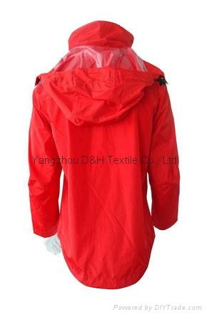 Fine Nylon Red Rain Coat Jacket Work Cloth labour suit Apparel  1