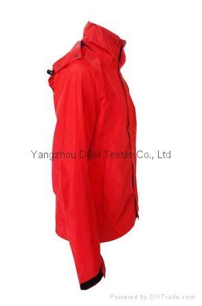 Fine Nylon Red Rain Coat Jacket Work Cloth labour suit Apparel  2