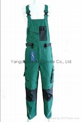 2017 Hot Good Quality Green Bib Pants trousers Overall Work Cloth Short