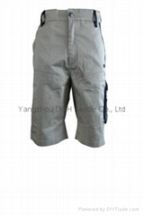 Newest Khaki Twill Men'short, Wholesale Short Men, Pleat Golf Short ,trousers