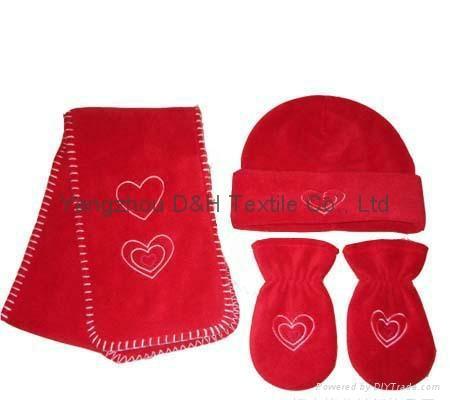 Hot Polar Fleece Sets/Hat/Gloves/Scarf 5