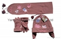 Polar Fleece Cap/Anti-Pilling Polar Fleece Set/Warm Set   4