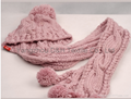 Child Knitted Set/Pink Knitted Hat/