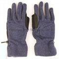 Honest quality  polar fleece Fuzzy  gloves with Embroidery 2
