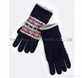 2017 HOT Fine Acrylic Knitted glove 3